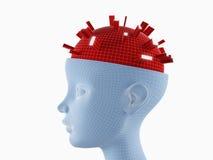 Atividades de cérebro Imagem de Stock Royalty Free