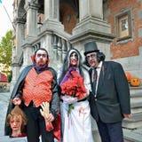 Atividades de Dia das Bruxas em Grand Place em Halle Imagem de Stock Royalty Free