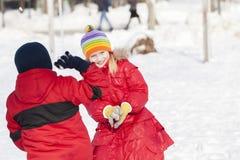 Atividades do inverno Fotografia de Stock Royalty Free