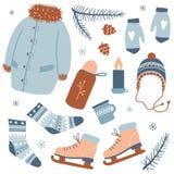 Atividades do inverno inverno acolhedor ilustração do vetor