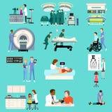Atividades médicas Cliparts dos cuidados médicos Foto de Stock Royalty Free