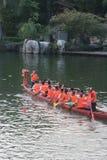 Atividades tradicionais em China -- raça de barco do dragão Imagem de Stock Royalty Free