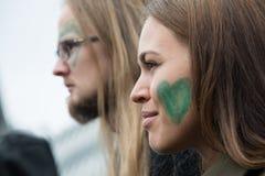 Ativistas ambientais Foto de Stock