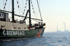 Ativistas de Greenpeace Foto de Stock
