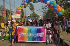 Ativistas e suportes de LGBT fotografia de stock royalty free