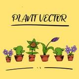 Ativo HD completo do vetor da flor da planta ilustração stock