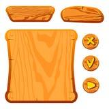 Ativos de madeira do jogo Foto de Stock Royalty Free