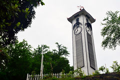 Atkinson Clock Tower in Kota Kinabalu, Malaysia. KOTA KINABALU, MY - JUNE 21: Atkinson Clock Tower on June 21, 2016 in Malaysia. Atkinson Clock Tower is the stock images