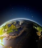 Atlántico Norte de la órbita ilustración del vector