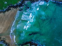 Atlântico acena da parte superior foto de stock