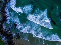 Atlântico acena da parte superior imagem de stock royalty free