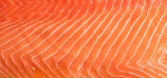 Atlântico natural Salmon Fillet Texture ou teste padrão norueguês imagens de stock
