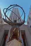 atlant centrum Rockefeller Zdjęcia Royalty Free