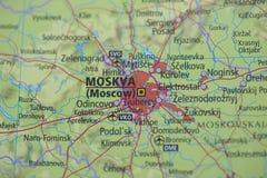 atlant mapa Moscow obraz royalty free