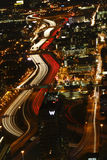Atlanta - énergie passionnante la nuit Image stock