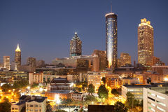 Atlanta. Downtown Atlanta Skyline In Night Royalty Free Stock Images