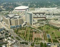 Atlanta. High altitute view of the Atlanta downtown core around the Georgia World Congress Centre royalty free stock image