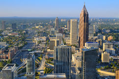 Atlanta. Cityscape of Downtown in Atlanta, GA. The city has the nations' 3rd highest concentration of Fortune 500 Companies Stock Photography