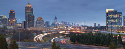 Atlanta. Panoramic image of Atlanta skyline at twilight Stock Image