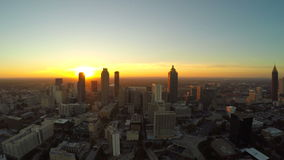 Atlanta Aerial Cityscape Fly Back stock video footage