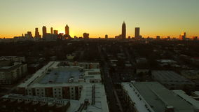 Atlanta Aerial Cityscape Sunset Park stock video