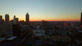Atlanta Aerial Cityscape Sunset stock video footage