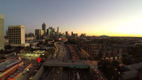 Atlanta Aerial Freeway stock footage