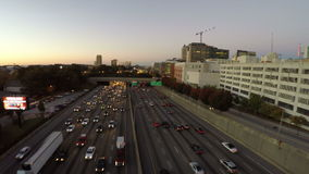 Atlanta Aerial Freeway stock video footage
