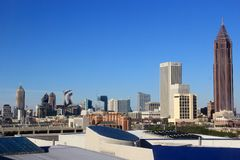 Atlanta Amerika, horisont Arkivbilder
