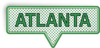 Atlanta anförandebubbla som isoleras på vit Royaltyfria Foton
