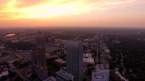 Atlanta antenn arkivfilmer