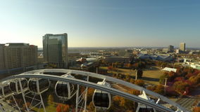 Atlanta antenn Ferris Wheel lager videofilmer