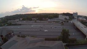 Atlanta antennmotorväg lager videofilmer