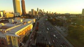 Atlanta antennmotorväg arkivfilmer