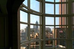 Atlanta attraverso una finestra fotografia stock