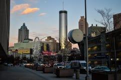 Atlanta au coucher du soleil Photographie stock libre de droits