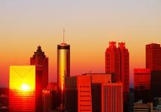 Atlanta au lever de soleil photos stock