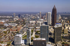 Atlanta - Beautiful Downtown Skyline Stock Photography