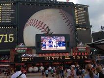 Atlanta beisball stadium. Baseball game in Royalty Free Stock Photography