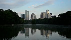 Atlanta bij Piemonte-Park stock footage