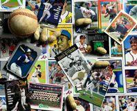 Atlanta Braves Collage. Atlanta Braves baseball cards collage stock photography