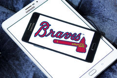 Atlanta Braves baseball team logo Stock Photo