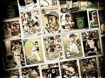 Atlanta Braves baseball trading card collage royalty free stock images