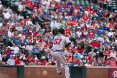 Atlanta Braves-Pitcher gesund Stockfotografie