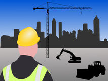 Atlanta building site Royalty Free Stock Photography
