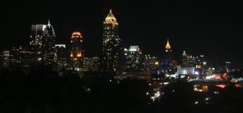 Atlanta céntrica en la noche Fotos de archivo libres de regalías
