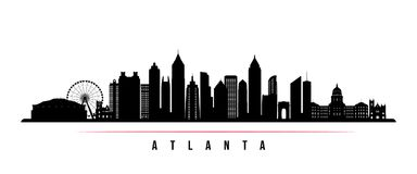 Atlanta city skyline horizontal banner.