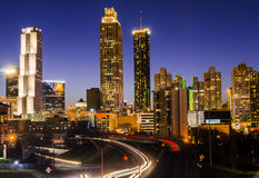 Atlanta City Skyline. Night photo of Atlanta Skyline Royalty Free Stock Photography