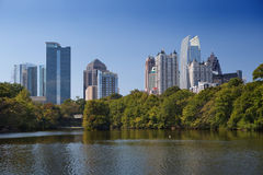 Atlanta, da baixa. Fotografia de Stock Royalty Free
