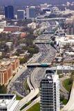 Atlanta - Datenbahnen und hohe Anstiege lizenzfreie stockfotos
